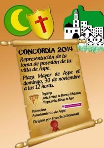 """Cartel del acto """"La Concordia"""""""
