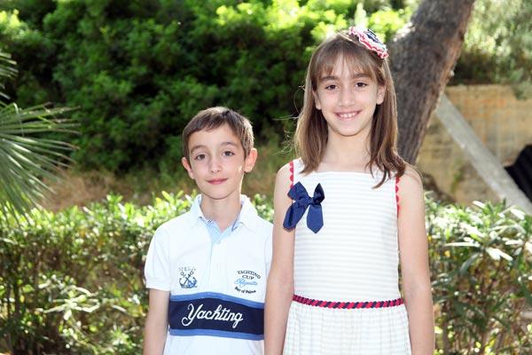 Capitán y Abanderada Infantiles: Felipe Mejías Cañizares y Julia Martínez Cañizares