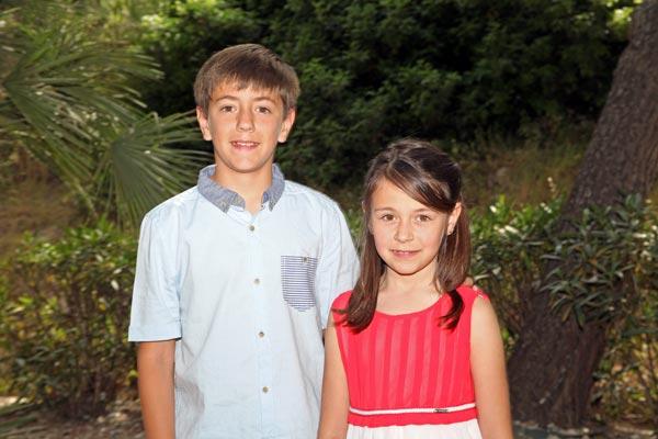 Capitán y Abanderada Infantiles: Iván Pujalte Calderón y Claudia Pujalte Calderón