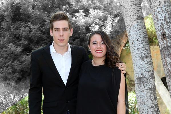 Capitán y Abanderada: Javier López Sánchez y María Elena Juan Amorrich
