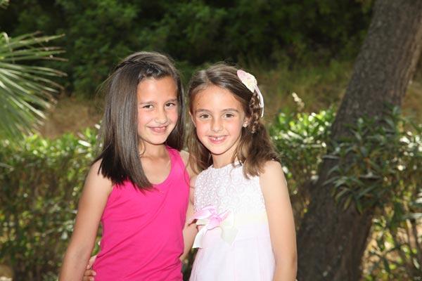 Abanderadas infantiles: Alba Botella García y Daniela Pujalte Villar