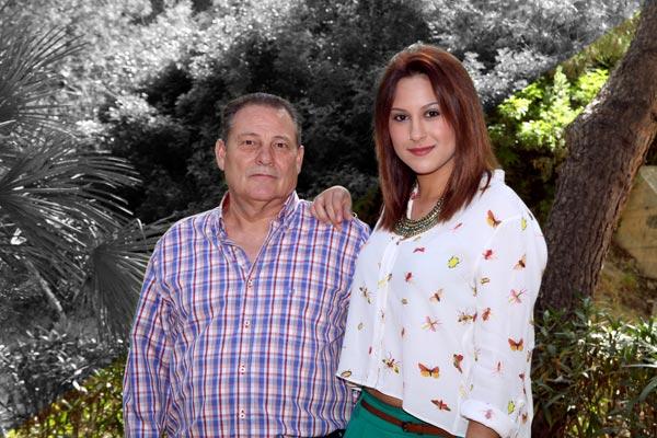 Capitán y Abanderada: Ernesto Córcoles Escobar y Elena Mira Córcoles
