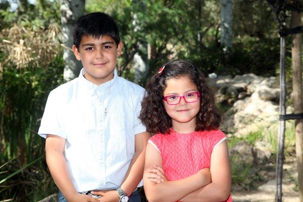 Capitán y Abanderada Infantiles: Estanislao Rocamora Fernández y María Rocamora Ruíz