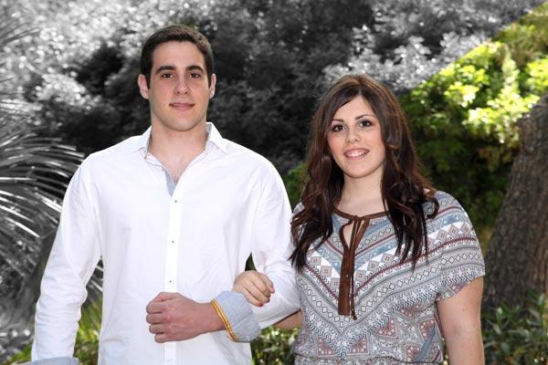 Capitán y Abanderada: Carlos Hernández Sevilla y Miriam Gámez García