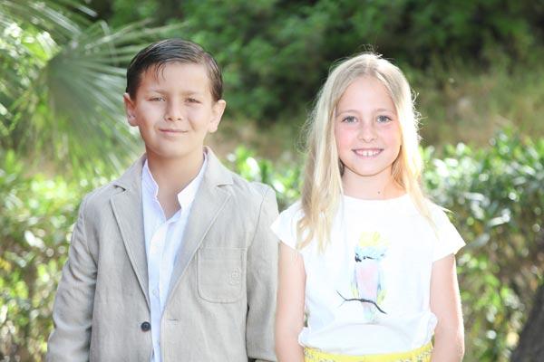 Reyes infantiles: Ignacio Banderas Vicedo y Paula Vicedo Carbonell